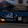 Signatech Nissan Oreca 03 flames on downshift